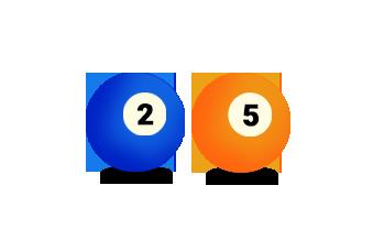 Billardkugel Nummer 2 und 5
