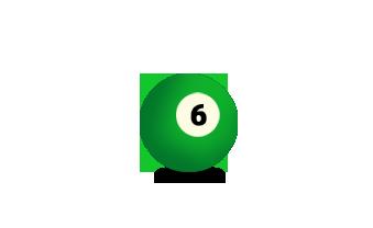 Billardkugel Nummer 6