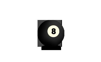 Billardkugel Nummer 8