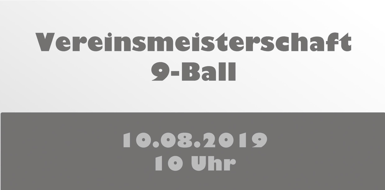 Vereinsmeisterschaft 9-Ball